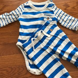 Baby Gap Blue Stripe Body Suit and Pants